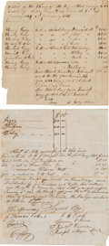 Miscellaneous:Ephemera, African Americana: Pair of Slavery Documents.... (Total: 2 Items)