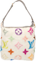 Luxury Accessories:Bags, Louis Vuitton Limited Edition White Multicolore Monogram MinkShoulder Bag by Takashi Murakami. Excellent Condition.1...