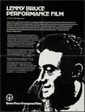 """Movie Posters:Documentary, Lenny Bruce Performance Film & Other Lot (Grove Press EvergreenFilms, R-1975). College Poster (21"""" X 27.75"""") & British Fron...(Total: 3 Items)"""