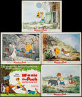 "Movie Posters:Animation, Winnie the Pooh and the Honey Tree (Buena Vista, 1966). Lobby Card Set of 5 (11"" X 14""). Animation.. ... (Total: 5 Items)"