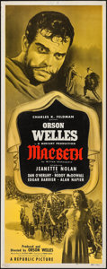 "Movie Posters:Drama, Macbeth (Republic, 1948). Insert (14"" X 36""). Drama.. ..."