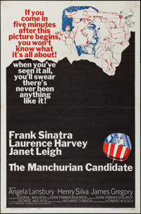 "The Manchurian Candidate (United Artists, 1962). One Sheet (27"" X 41""). Thriller"