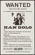 "Movie Posters:Science Fiction, Star Wars: Han Solo Wanted Poster (1970s). Unlicensed Poster (11"" X17.5""). Science Fiction.. ..."