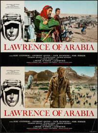 "Lawrence of Arabia (Columbia, 1963). Italian Photobusta Set of 8 (18"" X 26). Academy Award Winners. ... (Total: 8 I..."