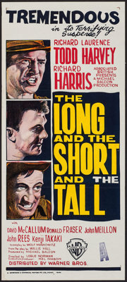 """The Long and the Short and the Tall (Warner-Pathé, 1961). Australian Post-War Daybill (13.25"""" X 30""""). W..."""