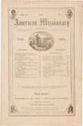 Miscellaneous:Ephemera, The Emancipation Proclamation: Early Printing in MagazineFormat....