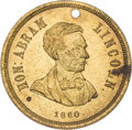 Political:Tokens & Medals, Abraham Lincoln: Choice 1860 Lincoln Campaign Medal....