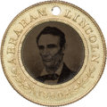 Political:Ferrotypes / Photo Badges (pre-1896), Abraham Lincoln: Superb Lincoln/Hamlin 1860 Campaign Ferrotype....