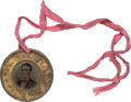 Political:Ferrotypes / Photo Badges (pre-1896), Lincoln/Hamlin: 1860-dated Campaign Ferrotype....