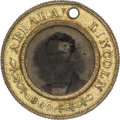 Political:Ferrotypes / Photo Badges (pre-1896), Abraham Lincoln: 1860-dated Lincoln/Hamlin Campaign Ferrotype....