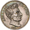 Political:Tokens & Medals, Abraham Lincoln: Large 1860 Lincoln Campaign Medal....