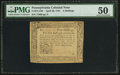 Colonial Notes:Pennsylvania, Pennsylvania April 20, 1781 5s PMG About Uncirculated 50.. ...