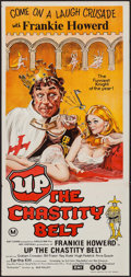 """Movie Posters:Comedy, Up the Chastity Belt (EMI/BEF, 1971). Australian Post-War Daybill (13"""" X 30""""). Comedy.. ..."""