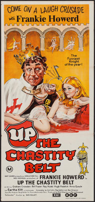 "Up the Chastity Belt (EMI/BEF, 1971). Australian Post-War Daybill (13"" X 30""). Comedy"