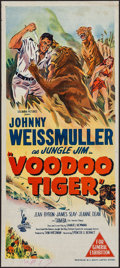 "Movie Posters:Adventure, Voodoo Tiger (Columbia, 1952). Australian Post-War Daybill (13"" X30""). Adventure.. ..."