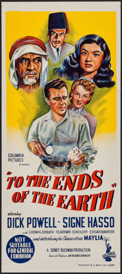 "To the Ends of the Earth & Other Lot (Columbia, 1948). Australian Post-War Daybills (2) (13.25"" X 30"" &..."