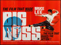"Movie Posters:Action, The Big Boss (Cathay Films, R-1973). British Quad (30"" X 40""). Action.. ..."