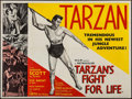 "Movie Posters:Adventure, Tarzan's Fight for Life & Other Lot (MGM, 1958). British Quads(2) (30"" X 40""). Adventure.. ... (Total: 2 Items)"