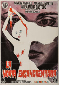"""The Blood Spattered Bride (DIASA, 1972). Spanish One Sheet (27.5"""" X 39.5""""). Horror"""