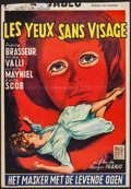 "Movie Posters:Horror, Eyes Without a Face (Metropolitan Films, 1960). Trimmed Belgian (14"" X 20""). Horror.. ..."