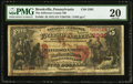 National Bank Notes:Pennsylvania, Brookville, PA - $5 1875 Fr. 404 The Jefferson County NB Ch. #2392. ...