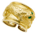 Estate Jewelry:Bracelets, Emerald, Gold Bracelet, David Webb. ...
