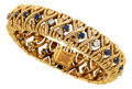 Estate Jewelry:Bracelets, Diamond, Sapphire, Gold Bracelet, Van Cleef & Arpels, French....