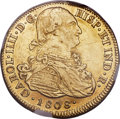Colombia, Colombia: Charles IV gold 8 Escudos 1808 P-JF AU53 NGC,...