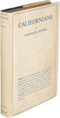 Books:Literature 1900-up, Robinson Jeffers. Californians. New York: 1916. Firstedition, inscribed....