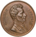 Political:Tokens & Medals, Abraham Lincoln: Large Campaign or 1861 Inaugural Medal in Rarely-seen Copper....