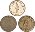 Political:Tokens & Medals, Abraham Lincoln: Three 1860 Campaign Medals.... (Total: 3 Items)