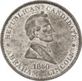 Political:Tokens & Medals, Abraham Lincoln: 1860 Campaign Medal...