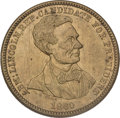 Political:Tokens & Medals, Abraham Lincoln: 1860 Lincoln Campaign Medal....