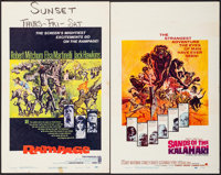 """Rampage & Others Lot (Warner Brothers, 1963). Window Cards (5) (14"""" X 22""""). Adventure. ... (Total: 5 Items..."""