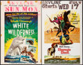 """Movie Posters:Documentary, White Wilderness & Others Lot (Buena Vista, 1958). Window Cards (6) (14"""" X 22"""") & Trimmed Window Card (13.25"""" X 16.25""""). Doc... (Total: 7 Items)"""