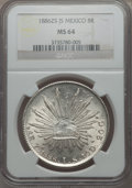 Mexico, Mexico: Republic 8 Reales 1886 Zs-JS MS64 NGC,...