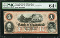 Canadian Currency: , Sault St. Marie, ON- The Bank of Brantford $4 Nov. 1, 1859 Ch #40-12-06R Remainder. ...