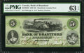 Canadian Currency: , Brantford, CW- Bank of Brantford $5 Nov. 1, 1859 Ch. # 40-10-02-08....