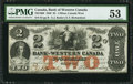 Canadian Currency: , Clifton, CW- Bank of Western Canada $2 Sept. 20, 1859 Ch. #795-10-08. ...