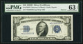Small Size:Silver Certificates, Fr. 1705* $10 1934D Narrow Silver Certificate. PMG Choice Uncirculated 63 EPQ.. ...