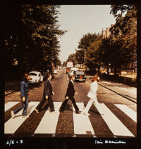 Iain Macmillan (Scottish, 1938-2006) The Beatles, Abbey Road (six rare alternate cover photograph outta
