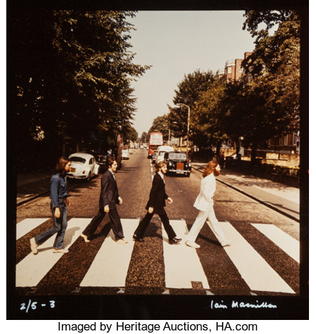 Iain Macmillan (Scottish, 1938-2006) The Beatles, Abbey Road (six rare alternate cover photograph outtakes), 1969 Dye ... (Total: 8 Items)
