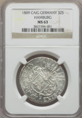 German States:Hamburg, German States: Hamburg. Free City 32 Schilling 1809-CAIG MS63 NGC,...