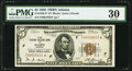 Small Size:Federal Reserve Bank Notes, Fr. 1850-F* $5 1929 Federal Reserve Bank Note. PMG Very Fine 30.. ...