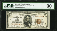 Fr. 1850-F* $5 1929 Federal Reserve Bank Note. PMG Very Fine 30