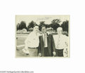 Autographs:Photos, 1955 Mel Ott Signed Photograph. The Hall of Fame slugger and thirdmember of the esteemed 500 Home Run Club poses with two ...