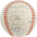 Autographs:Baseballs, 1948 Boston Braves Team Signed Baseball. Despite a pitching rotation that featured two stars and an assortment of bums, giv...