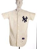 Baseball Collectibles:Uniforms, 1966 Ruben Amaro Game Worn Jersey. A tough home pinstriped New York Yankees flannel worn by the talented Mexican shortstop ...