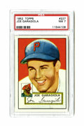 Baseball Cards:Singles (1950-1959), 1952 Topps Joe Garagiola #227 PSA NM 7. Strong example of this card from the classic '52 Topps set....