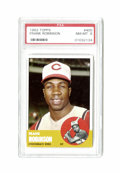 Baseball Cards:Singles (1960-1969), 1963 Topps Frank Robinson #400 PSA NM-MT 8. This HOF gamer's '63 Topps card is as clean and glossy as they come, with only ...